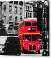 Red Bus Acrylic Print