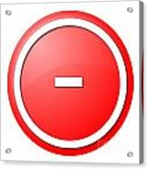 Red  Button Minus Acrylic Print