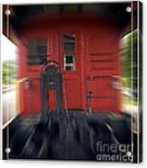 Red Caboose Acrylic Print