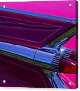 Red Caddy Tail Lights Acrylic Print