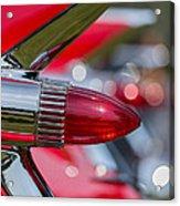 Red Cadillac Fins Acrylic Print
