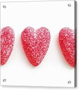 Red Candy Hearts Acrylic Print
