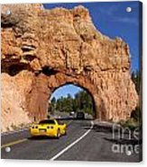 Red Canyon Near Bryce Canyon In Utah Acrylic Print