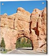 Red Canyon Tunnel Acrylic Print