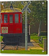 Red Car Museum In Seal Beach Ca Acrylic Print