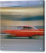 The Red Car Acrylic Print