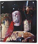 Red Cardinal Red Wine Sin Acrylic Print