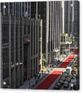 Red Carpet On 6th Ave Acrylic Print