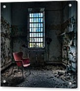 Red Chair - Art Deco Decay - Gary Heller Acrylic Print by Gary Heller