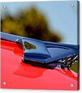 Red Chevy Hood Acrylic Print