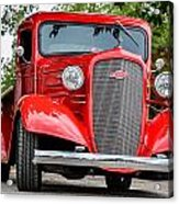 Red Chevy In Awesome Acrylic Print