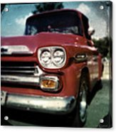 Red Chevy Pickup Acrylic Print