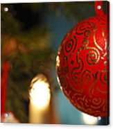 Red Christmas Bauble - Available For Licensing Acrylic Print