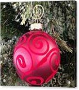 Red Christmas Ornament Acrylic Print