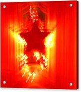 Red Christmas Star Acrylic Print