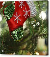 Red Christmas Stocking - Available For Licensing Acrylic Print