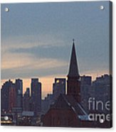 Red Church Acrylic Print