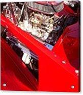 Red Classic Car Engine 2 Acrylic Print