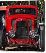Red Classic Hotrod Acrylic Print