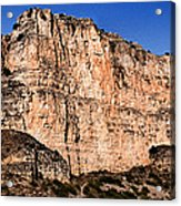 Red Cliffs Blue Sky Acrylic Print