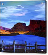 Red Cliffs On The Colorado Acrylic Print