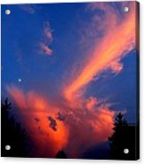Red Clouds In The Evening Acrylic Print