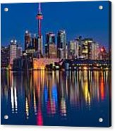 Red Cn Tower Acrylic Print