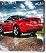 Red Cobra Rearview In Hdr Acrylic Print