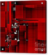 Red Construction I Acrylic Print