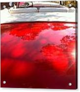 Red Convertible Acrylic Print