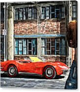 Red Corvette Acrylic Print by Bob Orsillo