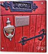 Red Cottage Door Acrylic Print
