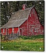 Red Country Barn Acrylic Print