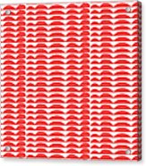 Red Cut Outs- Abstract Pattern Art Acrylic Print