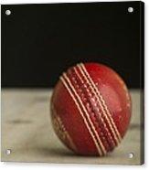 Red Cricket Ball Acrylic Print