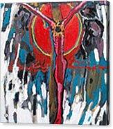 Red Crucifixion Acrylic Print
