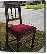 Red Cushion Chair Acrylic Print