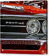 Red Customized Retro Pontiac-front Left Acrylic Print