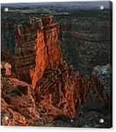 Red Dawn Breaking On Spires In Grand Canyon National Park Vertical Acrylic Print