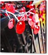 Red Decorations Acrylic Print