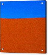 Red Desert Blue Sky Acrylic Print