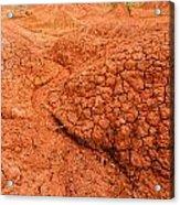 Red Desert Column Acrylic Print