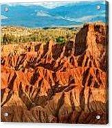 Red Desert Hills Acrylic Print