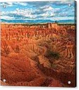 Red Desert Landscape Acrylic Print