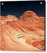 Red Desert Swirls Acrylic Print
