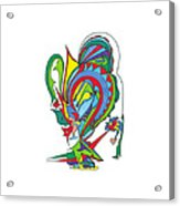 Red Design Acrylic Print
