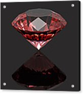 Red Diamond Ruby Acrylic Print