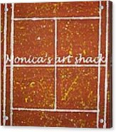Red Dirt Of A Tennis Court Acrylic Print by Monica Art-Shack