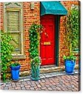 Red Door 5 Acrylic Print by Baywest Imaging
