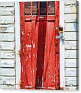 Red Door By Diana Sainz Acrylic Print by Diana Sainz